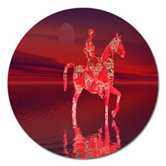 Riding At Dusk Magnet 5  (round) by icarusismartdesigns