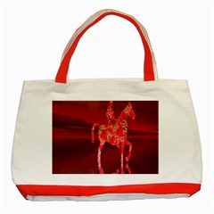 Riding At Dusk Classic Tote Bag (red) by icarusismartdesigns