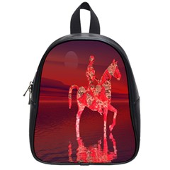 Riding At Dusk School Bag (small) by icarusismartdesigns