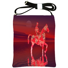 Riding At Dusk Shoulder Sling Bag by icarusismartdesigns