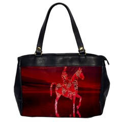 Riding At Dusk Oversize Office Handbag (one Side) by icarusismartdesigns