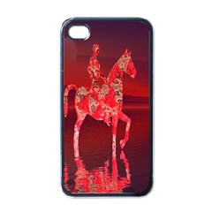Riding At Dusk Apple Iphone 4 Case (black) by icarusismartdesigns