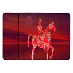 Riding At Dusk Samsung Galaxy Tab 8 9  P7300 Flip Case by icarusismartdesigns