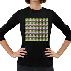 Pattern Women s Long Sleeve T Shirt (dark Colored) by Siebenhuehner