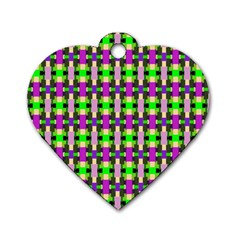 Pattern Dog Tag Heart (one Sided)  by Siebenhuehner