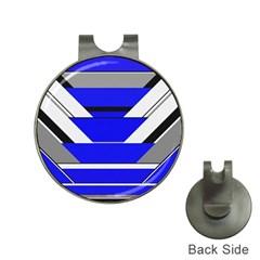 Pattern Hat Clip With Golf Ball Marker by Siebenhuehner