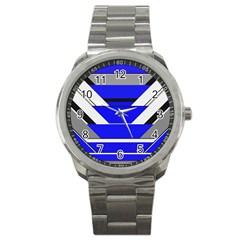 Pattern Sport Metal Watch by Siebenhuehner