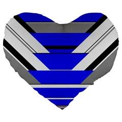 Pattern Large Flano Heart Shape Cushion by Siebenhuehner