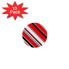 Pattern 1  Mini Button Magnet (10 Pack) by Siebenhuehner