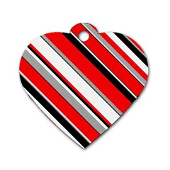 Pattern Dog Tag Heart (two Sided) by Siebenhuehner