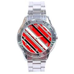 Pattern Stainless Steel Watch by Siebenhuehner