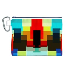 Pattern Canvas Cosmetic Bag (large) by Siebenhuehner