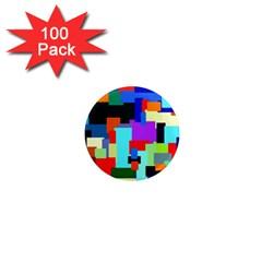 Pattern 1  Mini Button Magnet (100 Pack) by Siebenhuehner