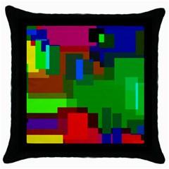 Pattern Black Throw Pillow Case by Siebenhuehner