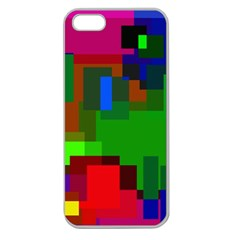 Pattern Apple Seamless Iphone 5 Case (clear) by Siebenhuehner