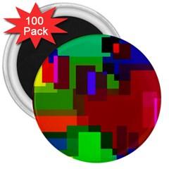Pattern 3  Button Magnet (100 pack) by Siebenhuehner