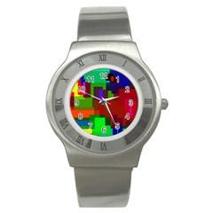 Pattern Stainless Steel Watch (slim) by Siebenhuehner