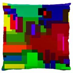 Pattern Large Flano Cushion Case (two Sides) by Siebenhuehner