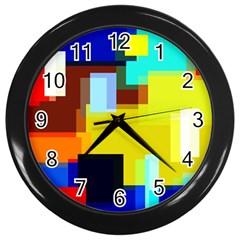 Pattern Wall Clock (black) by Siebenhuehner