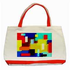Pattern Classic Tote Bag (red) by Siebenhuehner