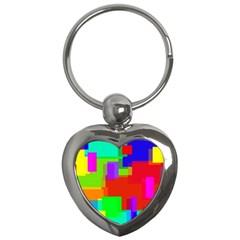 Pattern Key Chain (heart) by Siebenhuehner
