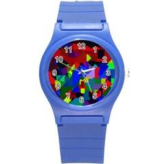 Pattern Plastic Sport Watch (small) by Siebenhuehner