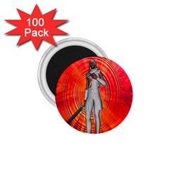White Knight 1.75  Button Magnet (100 pack) by icarusismartdesigns