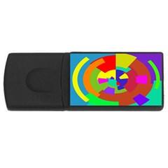 Pattern 4gb Usb Flash Drive (rectangle) by Siebenhuehner