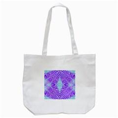 Turquoise Purple Zebra Pattern  Tote Bag (white) by OCDesignss
