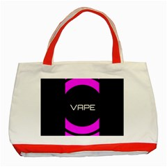 Vape Abstract Classic Tote Bag (red) by OCDesignss
