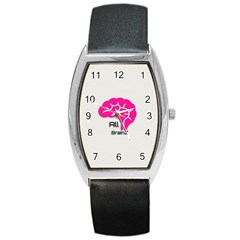 All Brains Leather  Tonneau Leather Watch by OCDesignss