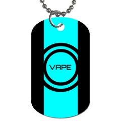 Turquoise Lines Vape   Dog Tag (one Sided) by OCDesignss
