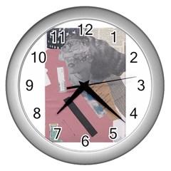 Clarissa On My Mind Wall Clock (Silver) by KnutVanBrijs