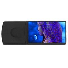 Moon Shadow 4gb Usb Flash Drive (rectangle) by icarusismartdesigns
