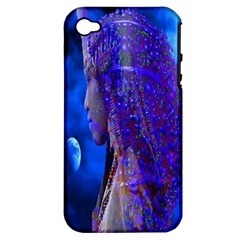 Moon Shadow Apple Iphone 4/4s Hardshell Case (pc+silicone) by icarusismartdesigns