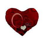 I Heart You Red Flano Heart Cushion - Standard 16  Premium Flano Heart Shape Cushion