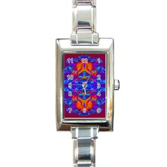Abstract Reflections Rectangular Italian Charm Watch by icarusismartdesigns