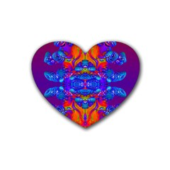 Abstract Reflections Drink Coasters 4 Pack (heart)  by icarusismartdesigns