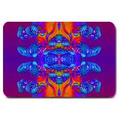 Abstract Reflections Large Door Mat by icarusismartdesigns