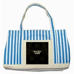 Wake&vape Leopard  Blue Striped Tote Bag by OCDesignss
