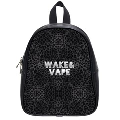 Wake&vape Leopard  School Bag (small) by OCDesignss