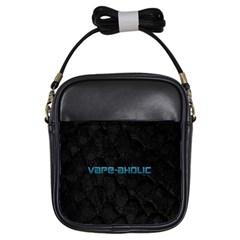 Vape Aholic Turquoise  Girl s Sling Bag by OCDesignss