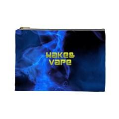 Wake&vape Blue Smoke  Cosmetic Bag (large) by OCDesignss
