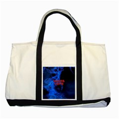 Wake&vape Blue Smoke  Two Toned Tote Bag