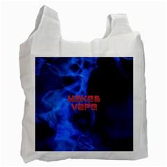 Wake&vape Blue Smoke  White Reusable Bag (one Side) by OCDesignss