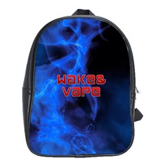 Wake&vape Blue Smoke  School Bag (xl) by OCDesignss