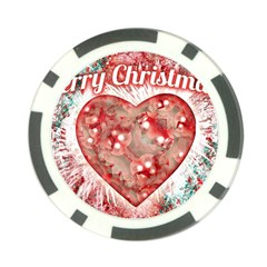 Vintage Colorful Merry Christmas Design Poker Chip (10 Pack) by dflcprints