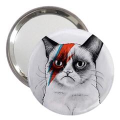 Grumpy Bowie 3  Handbag Mirror by Olechka