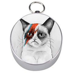 Grumpy Bowie Silver Compass by Olechka