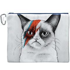 Grumpy Bowie Canvas Cosmetic Bag (XXXL) by Olechka